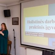 Gabrielė Tervidytė konferencijos metu